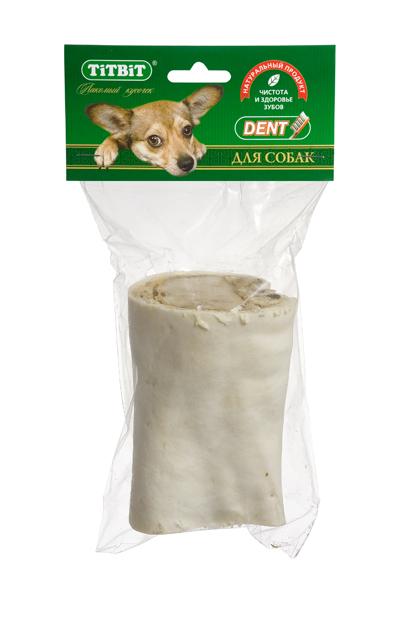 Лакомство для собак Titbit, голень говяжья, малая2195Лакомство для собак Titbit представляет собой часть высушенной говяжьей голени. Содержит кожу, костную ткань, жир, соединительную ткань и небольшие прослойки мышечной ткани. Обеспечивают дополнительное поступление в организм глюкозамина и хондроитина - составных элементов для роста, развития и поддержания в норме суставов собак. Массирует десны и укрепляет жевательную мускулатуру, очищает зубной налет и предотвращает возникновение зубного камня. Прекрасная игрушка, сохраняющая в целости предметы интерьера и личные вещи. Изделие содержит трубчатую кость ине предназначено для полного поедания. Как только собака съела футляр из кожи, сухожилий и мышц - необходимо заменить лакомство на новое.Состав: высушенная говяжья голень.Товар сертифицирован.Тайная жизнь домашних животных: чем занять собаку, пока вы на работе. Статья OZON ГидЧем кормить пожилых собак: советы ветеринара. Статья OZON Гид