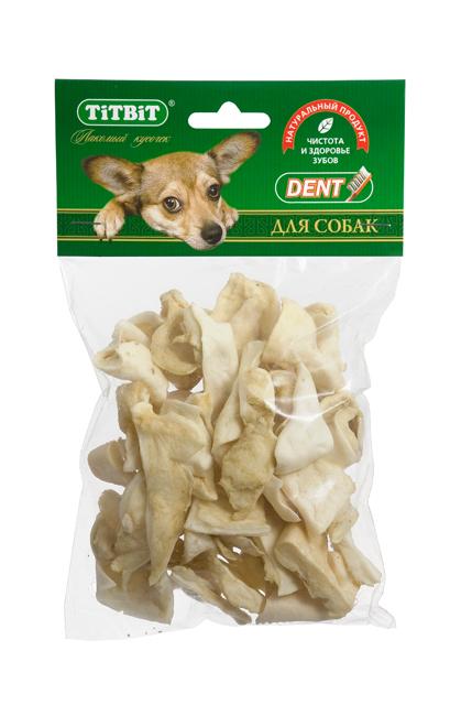 Лакомство для собак Titbit, бараньи хрустики, 14 шт319670Высушенные кусочки бараньих носогубных складок и щековины. Упаковка содержит 14-16 кусочков лакомства .Высокое содержание коллагеновых и эластиновых волокон обеспечивает поступление в организм незаменимых компонентов для роста и поддержания качества хрящевой ткани суставов вашего питомца. Содержат гипоаллергенный белок. Высокое содержание коллагена и эластина способствует улучшению формирования ушного хряща (для пород собак, стандартом которых предусмотрен вертикальный постав ушной раковины).Состав: Высушенные бараньиносогубные складки, щековина. Тайная жизнь домашних животных: чем занять собаку, пока вы на работе. Статья OZON Гид