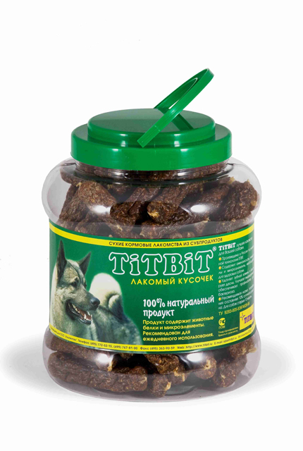 Лакомство для собак Titbit, мини колбаски, 4,3 л4545Лакомство для собак Titbit - это 100% натуральный продукт с пониженным содержанием жира.Произведено по уникальной технологии Titbit, которая позволяет сохранить структуру живой ткани, необходимой для зубов собаки. Содержат полноценные белки, аминокислоты и минеральные вещества. Способствую профилактике дисбактериоза и образованию зубного камня. Отличное средство для укрепления десны и очистки зубов от налета. Прекрасно сочетается с любым типом кормления.Состав: мясо и мясные субпродукты (более 85%), кукуруза, минеральные вещества. Товар сертифицирован.Уважаемые клиенты! Обращаем ваше внимание на то, что упаковка может иметь несколько видов дизайна. Поставка осуществляется в зависимости от наличия на складе.Тайная жизнь домашних животных: чем занять собаку, пока вы на работе. Статья OZON Гид
