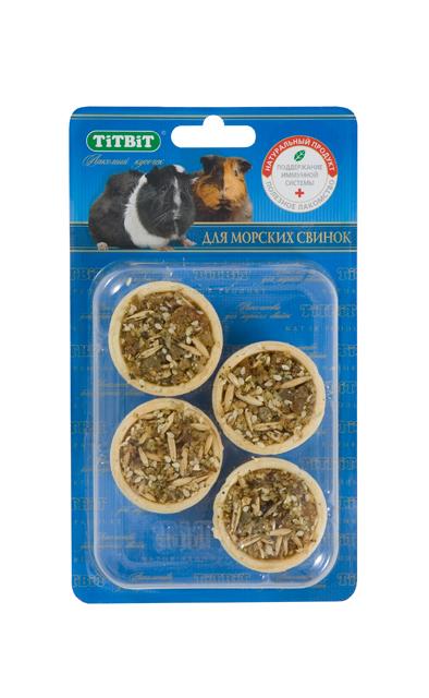 """Лакомство для морских свинок """"Titbit"""", тарталетки с крапивой и манго, 4 шт"""