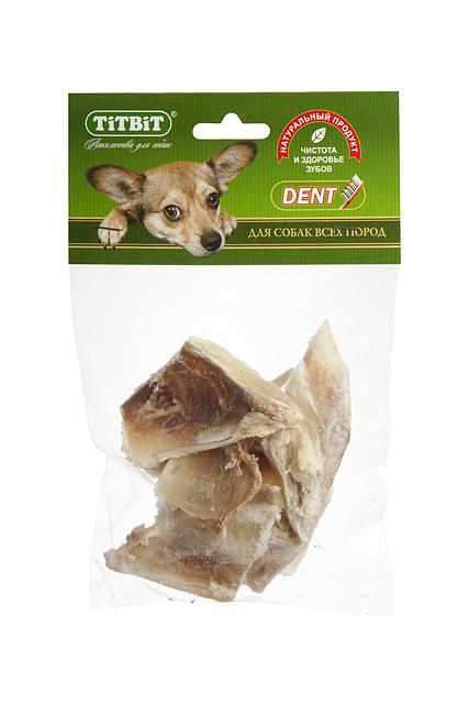 Лакомство для собак Titbit, хрящ лопаточный говяжий, 65 г лакомство для собак titbit classic вяленое куриное филе 50 г