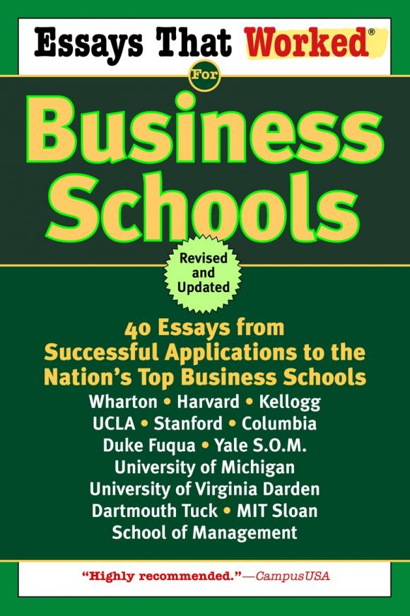best business school essay books