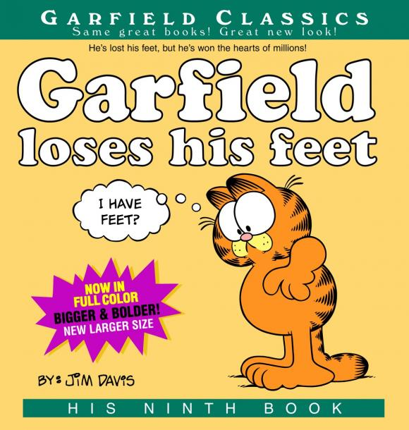 Garfield Loses His Feet garfield takes his licks