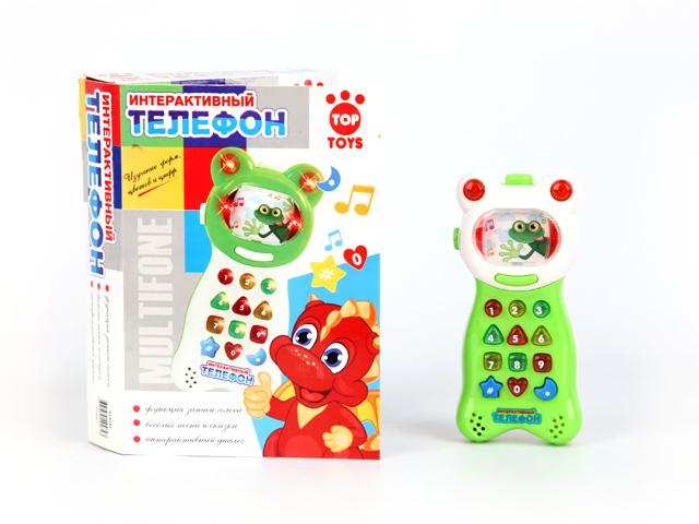 Top Toys Телефон интерактивный, со светом и звуком top toys рыба gt8896 заводная