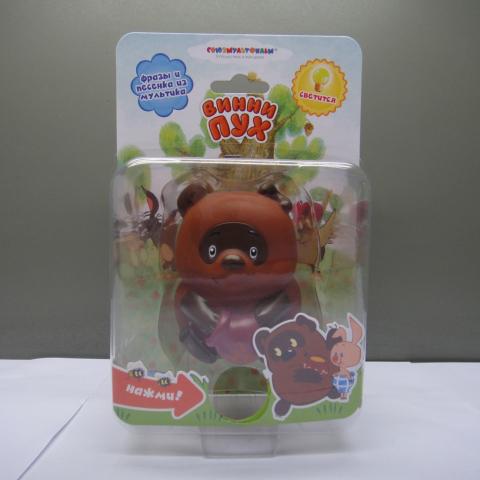 Пластизоль Винни Пух со светом и звуком фигурки игрушки союзмультфильм пластизоль гена со светом и звуком