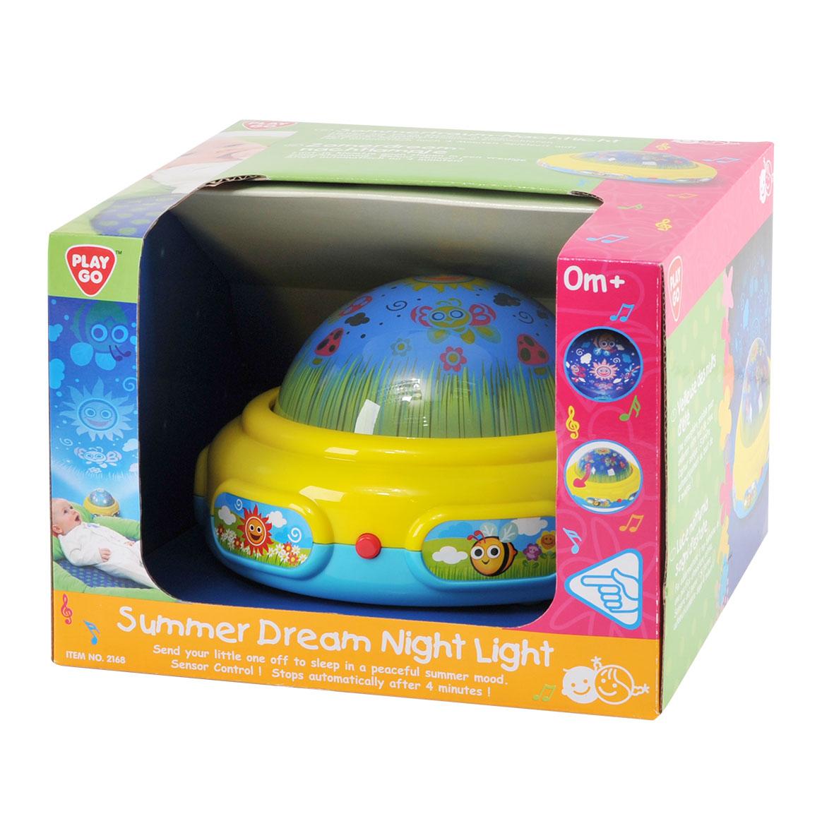 Playgo Развивающий центр Волшебный светPlay 2168Игровой развивающий центр - это уникальный сенсорный ночник-проектор, который понравится любому малышу, когда он будет отравляться в волшебную страну снов. При помощи проектора, световой луч отражается на стене в виде животных, которые появляются под спокойную мелодию.Проектор имеет три режима:- играет музыка и горит свет;- играет только музыка;- горит только свет.После 4-х минут работы, проектор автоматически отключается.Проектор работает от 3-х батареек типа LR6/ААА/1.5 V, которые предусмотрены в наборе.Размер проектора: 17 х 17 х 10,5 см.