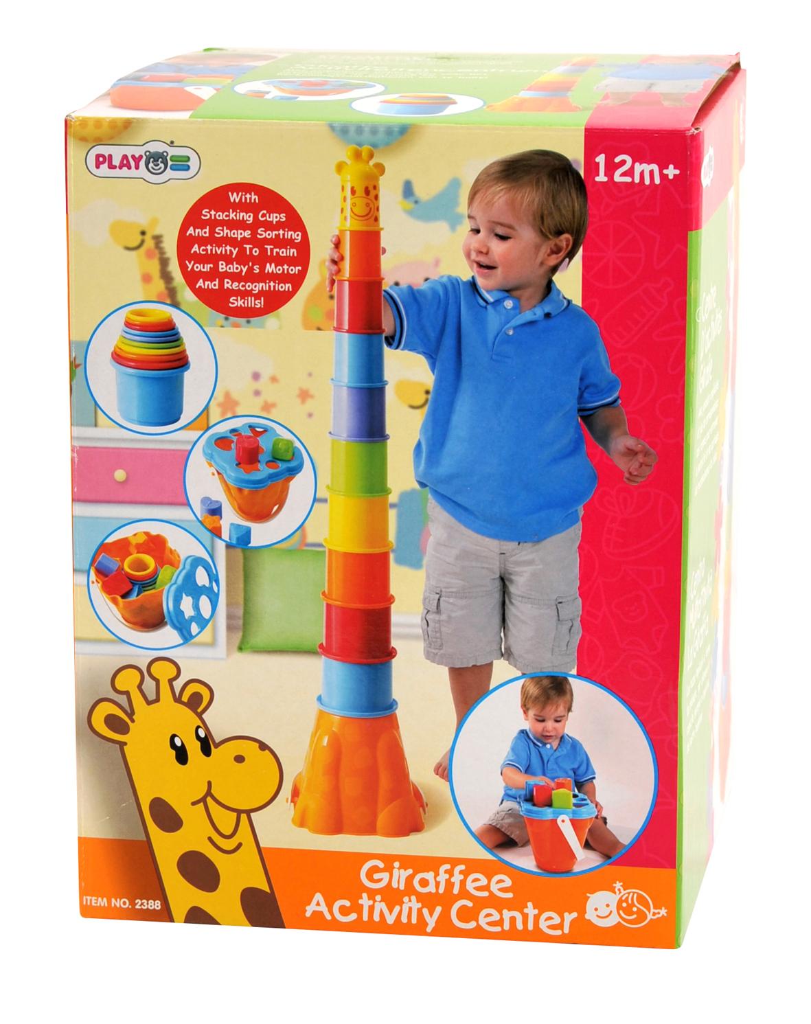 Playgo Активный центр Пирамида-жираф развивающие игрушки playgo активный игровой центр пирамида сортер