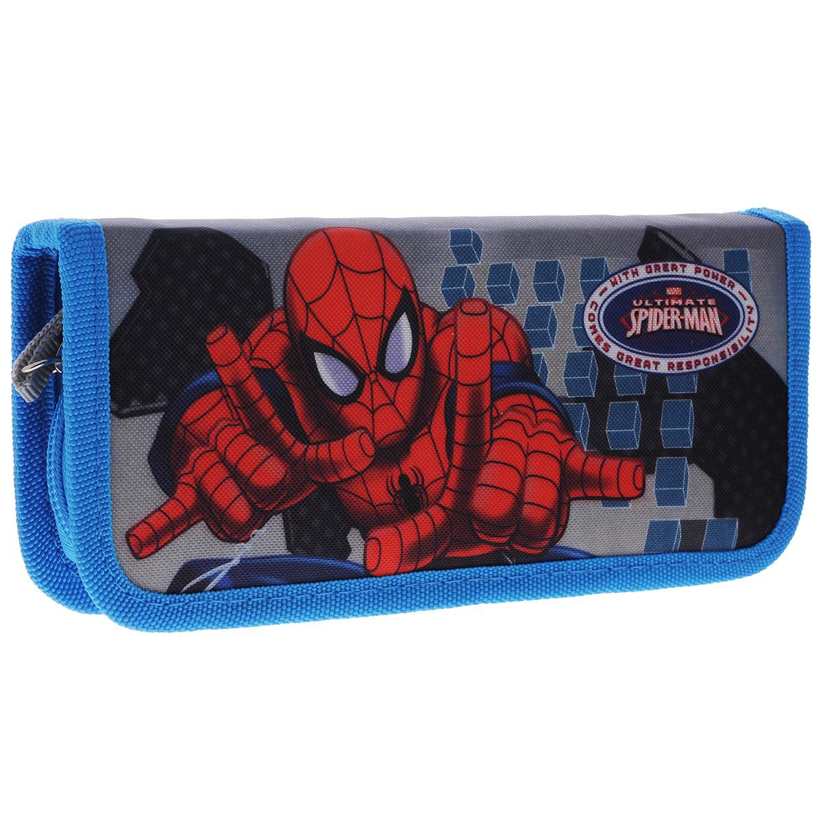 Пенал Marvel Spider-Man, без наполнения, цвет: синий. SMBB-UT2-033SMBB-UT2-033Пенал Marvel Spider-Man, без наполнения - удобный жесткий органайзер для школьных иписьменных принадлежностей. Такой пенал станет не только практичным, но и стильным школьным аксессуаром для любого ребенка.Он состоит из одного отделения с 11 фиксаторами, в котором без труда поместятся все необходимые канцелярские принадлежности. Пенал закрывается на застежку-молнию и оформлен изображением Человека-паука, который так нравится мальчикам!Такой пенал станет незаменимым помощником для школьника, с ним ручки и карандаши всегда будут под рукой и больше не потеряются, а изображение любимого героя обязательно поднимет настроение!