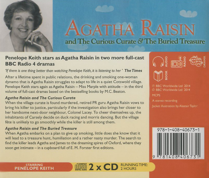 Agatha Raisin The Curious Curate& The Buried Treasure (аудиокнига на 2 CD) Beaton mystery series, starring Penelope Keith.. This is the third...