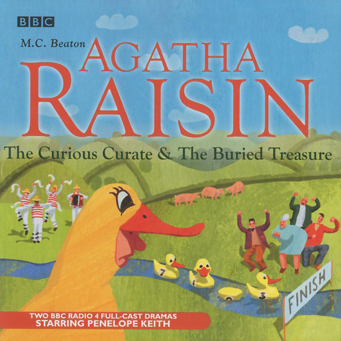 Agatha Raisin The Curious Curate & The Buried Treasure (аудиокнига на 2 CD)