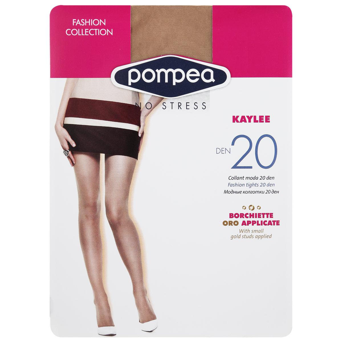 Колготки женские Pompea Kaylee Fashion 20, цвет: Naturale (натуральный). 90768872. Размер 3-4 (3/4 -ML) колготки glamuriki колготки фантазийные со стразами премиум