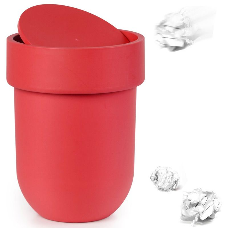 Контейнер мусорный Touch с крышкой красный023269-505Как много всего ненужного можно обнаружить на столе: скомканные бумаги для заметок, упаковки от шоколадок, старые скрепки и скобы для степлера. Отправьте весь этот хлам в мусорное ведро, чтобы сделать жизнь чище и упорядоченнее. Лаконичный и простой контейнер Touch не займет много места и будет прилежно исполнять свои обязанности по накоплению мусора.Материал: полипропилен; цвет: красный