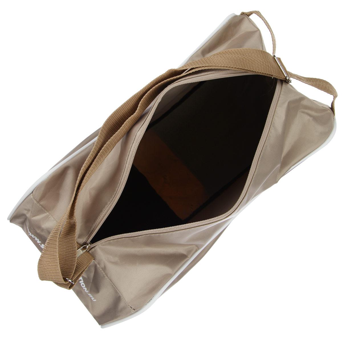 """Сумка """"Спортивная коллекция"""" для роликов и коньков выполнена из высококачественного нейлона.  Особенности:  Сумка оснащена регулируемыми наплечным ремнем и ручками для транспортировки в руках.  Легкий прочный корпус из водонепроницаемого материала. На боковой стороне сумки располагается удобный плоский карман на липучке. Имеется также специальная окантовка для сохранения формы сумки. Центральная застежка-молния для быстрого доступа к содержимому."""
