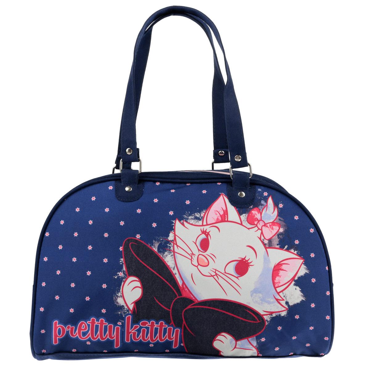 Сумочка Marie Cat, цвет: темно-синий. MCCB-UT1-4034MCCB-UT1-4034Стильная сумочка Marie Cat порадует любую модницу и поклонницу мультфильма.Сумочка имеет одно вместительное отделение, закрывающееся на молнию. Лицевая сторона сумочки оформлена изображением очаровательной кошечки. Она оснащена ручками для переноски в руке. Высота ручек 20 см. Каждая юная поклонница популярного мультфильма будет рада такому аксессуару.Предназначено для детей 7-10 лет.