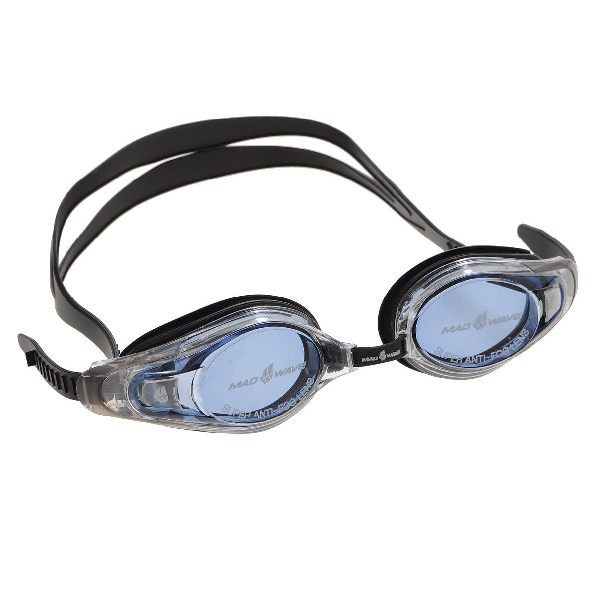 Очки для плавания с диоптриями MadWave Optic Envy Automatic, цвет: черный, -9 шапочка для плавания madwave madwave ma991dkiwh88