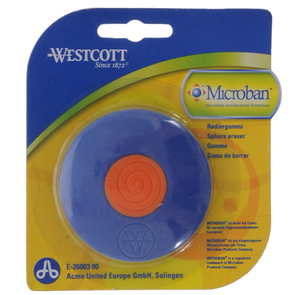 Ластик Westcott, с антибактериальным покрытием, цвет: синийЕ-26003 00Нас окружает огромное количество бактерий, многие из которых не безопасны, поэтому все большее число товаров выпускается со встроенной антибактериальной защитой.Яркий, двухцветный ластик со встроенной антибактериальной защитой Microban легко и без следа удаляет надписи, сделанные карандашом. Для более точного удаления имеет заостренные края. Эффективность защиты Microban подтверждена множеством лабораторных исследований по всему миру. Эффективен против широкого спектра грамположительных и грамотрицательных бактерий и грибков, таких как: сальмонелла, золотистый стафилококк и другие, которые вызывают заболевания, сопровождающиеся расстройством кишечника и грибковыми заболевания. (Всего около 100 микроорганизмов).Ластик сохраняет свои свойства после мытья и в случае механического повреждения изделия. Антибактериальные свойства не исчезают со временем и не снижают свою эффективность. Microban абсолютно безвреден для людей и животных, не вызывает аллергии.