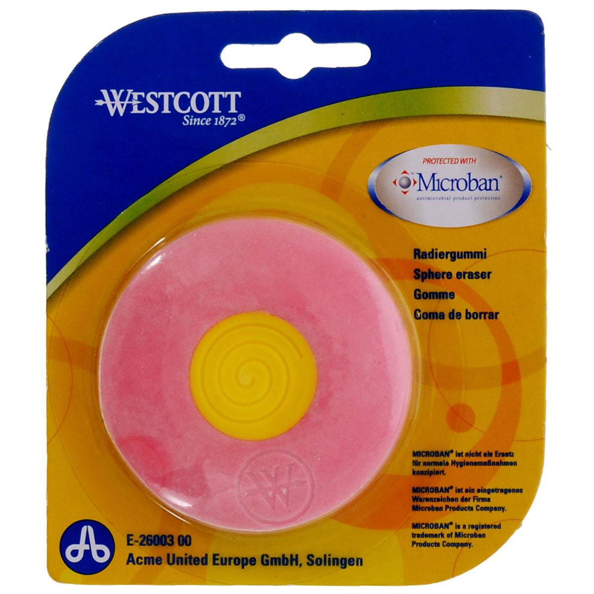 Ластик Westcott Microban, с антибактериальным покрытием, цвет: розовыйЕ-26003 00Нас окружает огромное количество бактерий, многие из которых не безопасны, поэтому все большее число товаров выпускается со встроенной антибактериальной защитой.Яркий, двухцветный ластик со встроенной антибактериальной защитой Microban легко и без следа удаляет надписи, сделанные карандашом. Для более точного удаления имеет заостренные края. Эффективность защиты Microban подтверждена множеством лабораторных исследований по всему миру. Эффективен против широкого спектра грамположительных и грамотрицательных бактерий и грибков, таких как: сальмонелла, золотистый стафилококк и другие, которые вызывают заболевания, сопровождающиеся расстройством кишечника и грибковыми заболевания. (Всего около 100 микроорганизмов).Ластик сохраняет свои свойства после мытья и в случае механического повреждения изделия. Антибактериальные свойства не исчезают со временем и не снижают свою эффективность. Microban абсолютно безвреден для людей и животных, не вызывает аллергии.