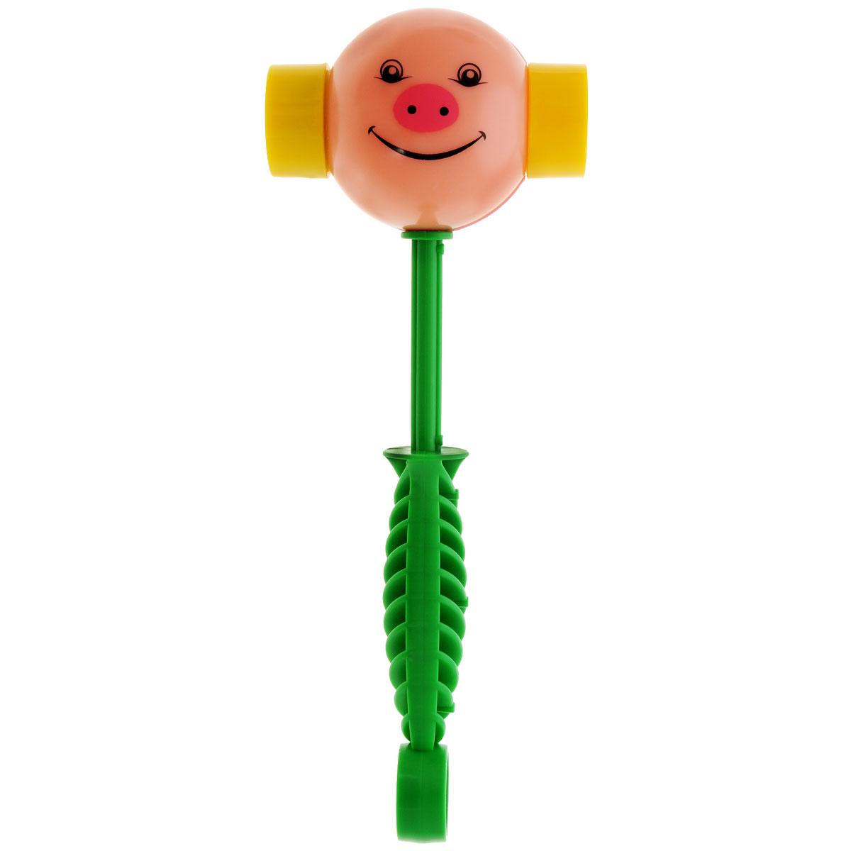 Развивающая игрушка Stellar Веселый молоточек, цвет: розовый, зеленый развивающая игрушка stellar веселый молоточек цвет зеленый желтый голубой