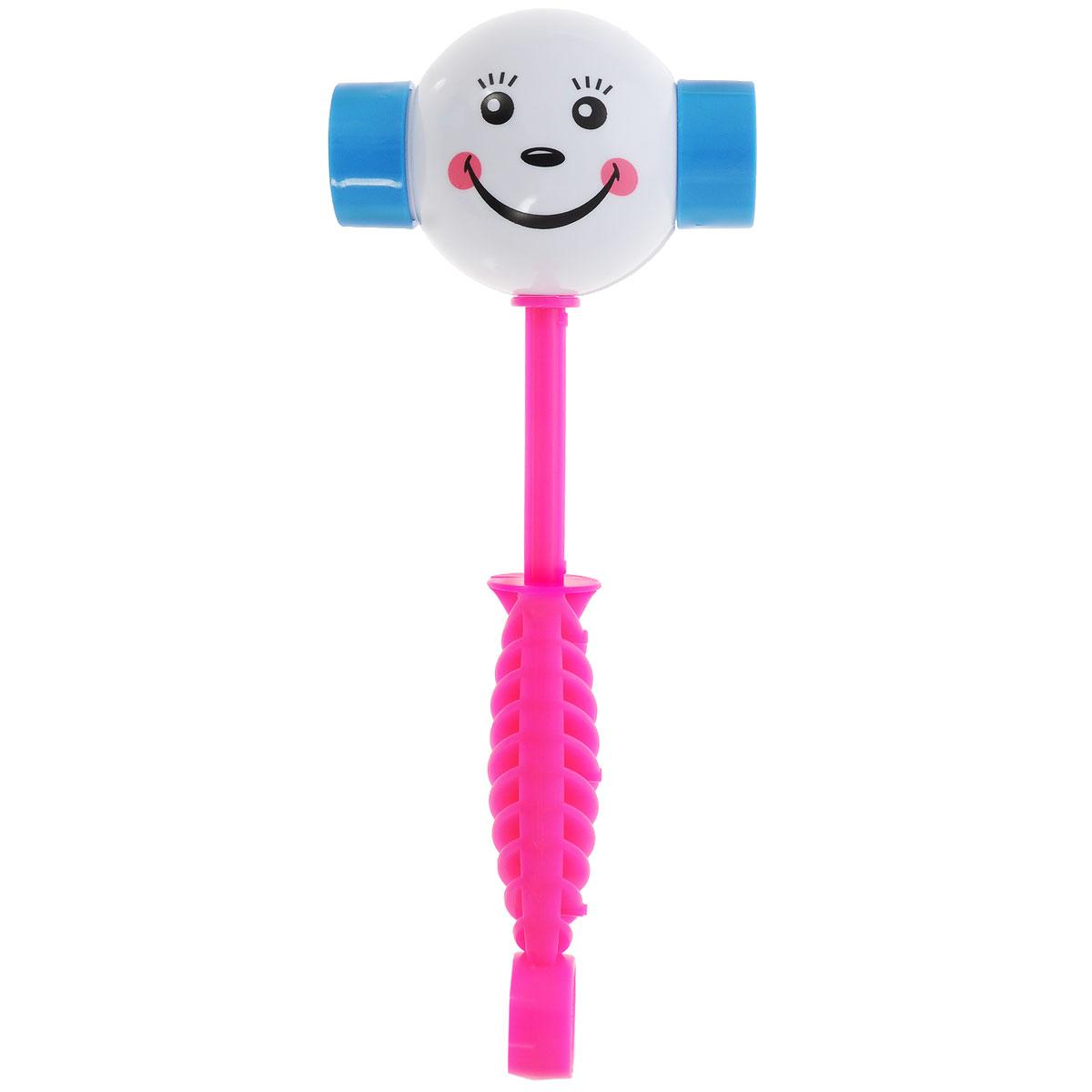Развивающая игрушка Stellar Веселый молоточек, цвет: розовый, белый стеллар погремушка дудочка стеллар