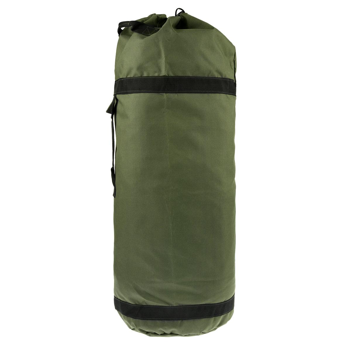 Вещмешок-рюкзак Алом-Дар, цвет: хаки, 70 л7909-070Вещмешок Алом-Дар с лямками, выполненный из водоотталкивающей ткани. Аналог армейского вещмешка стран НАТО. Имеет прошитые усиленные стропой лямки, идущие вдоль мешка, поддерживающие дно. Мешок можно использовать как рюкзак. Ручка сбоку и две ручки сверху в горловине мешка позволяют переносить его как сумку в вертикальном или горизонтальном положении. Горловина затягивается усиленным шнуром, сбоку есть карман на кнопке.