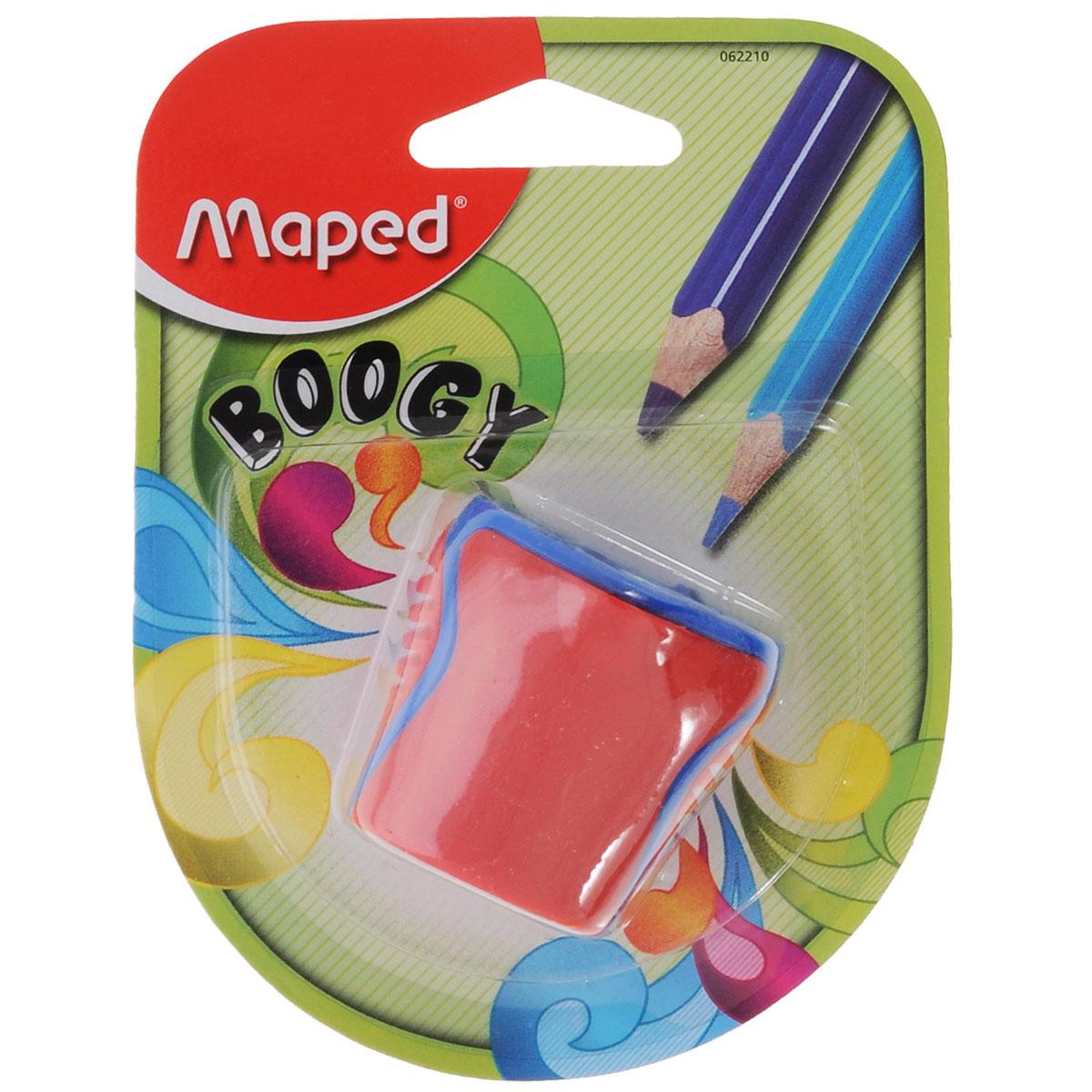 Точилка Maped Boogy, с 2 отверстиями, цвет: красный62210_красныйТочилка  Boogy с двумя отверстиями выполнена из ударопрочного пластика. Полупрозрачный контейнер для сбора стружки повышенной вместимости позволяет визуально контролировать уровень заполнения и вовремя производить очистку.