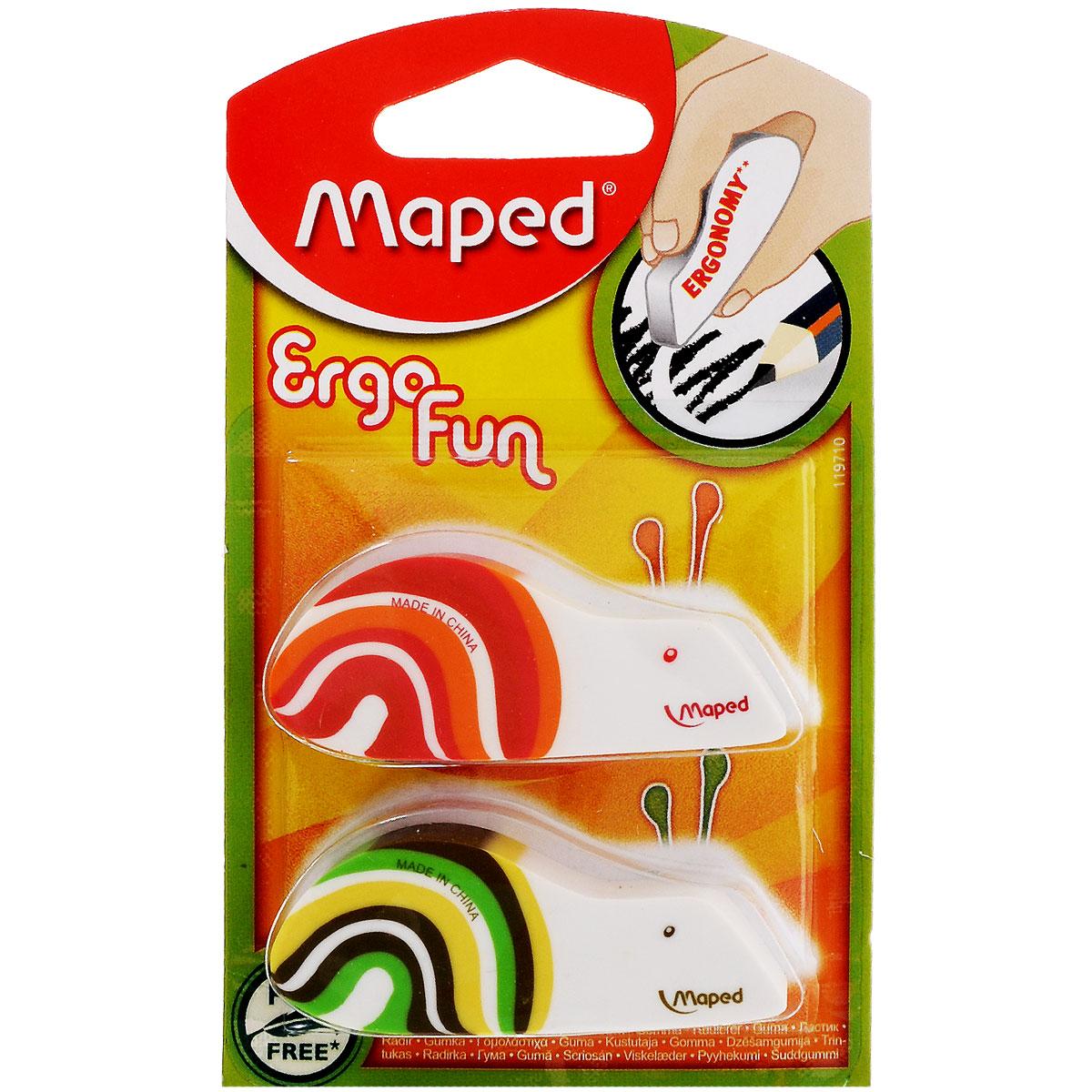Набор ластиков Maped Улитки, 2 шт бумбарам набор ластиков пазлов животные 5 шт