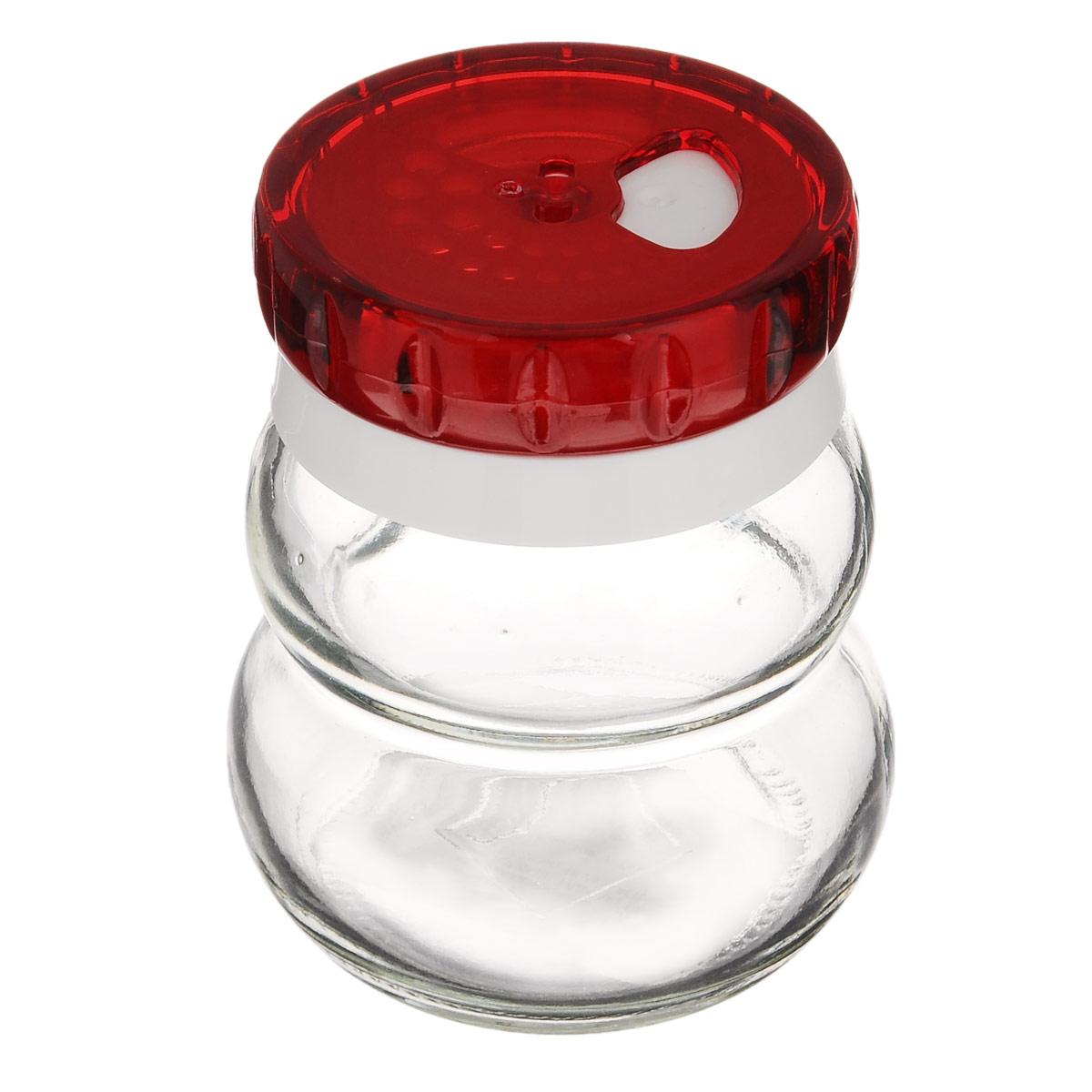 Банка для специй Herevin, цвет: красный, 200 мл. 131007-000131007-000_ красныйБанка для специй Herevin выполнена из прозрачного стекла и оснащена пластиковой цветной крышкой с отверстиями разного размера, благодаря которым, вы сможете приправить блюда, просто перевернув банку. Крышка снабжена поворотным механизмом, благодаря которому вы сможете регулировать степень подачи специй. Крышка легко откручивается, благодаря чему засыпать приправу внутрь очень просто. Такая баночка станет достойным дополнением к вашему кухонному инвентарю. Можно мыть в посудомоечной машине.Диаметр (по верхнему краю): 4 см.Высота банки (без учета крышки): 7,5 см.