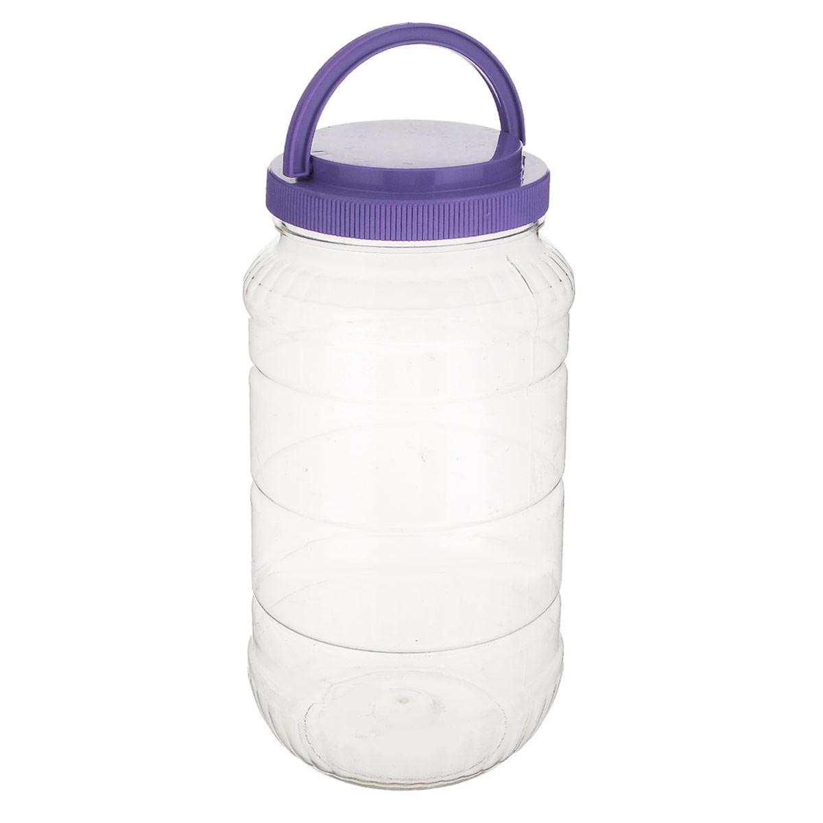 Емкость Альтернатива, с ручкой, цвет: фиолетовый, 3 лM957_ фиолетовыйЕмкость Альтернатива предназначена для хранения сыпучих продуктов или жидкостей. Выполнена из высококачественного пластика. Оснащена ручкой для удобной переноски. Ручка опускается.Диаметр: 10,5 см.Высота (без учета крышки): 25 см.