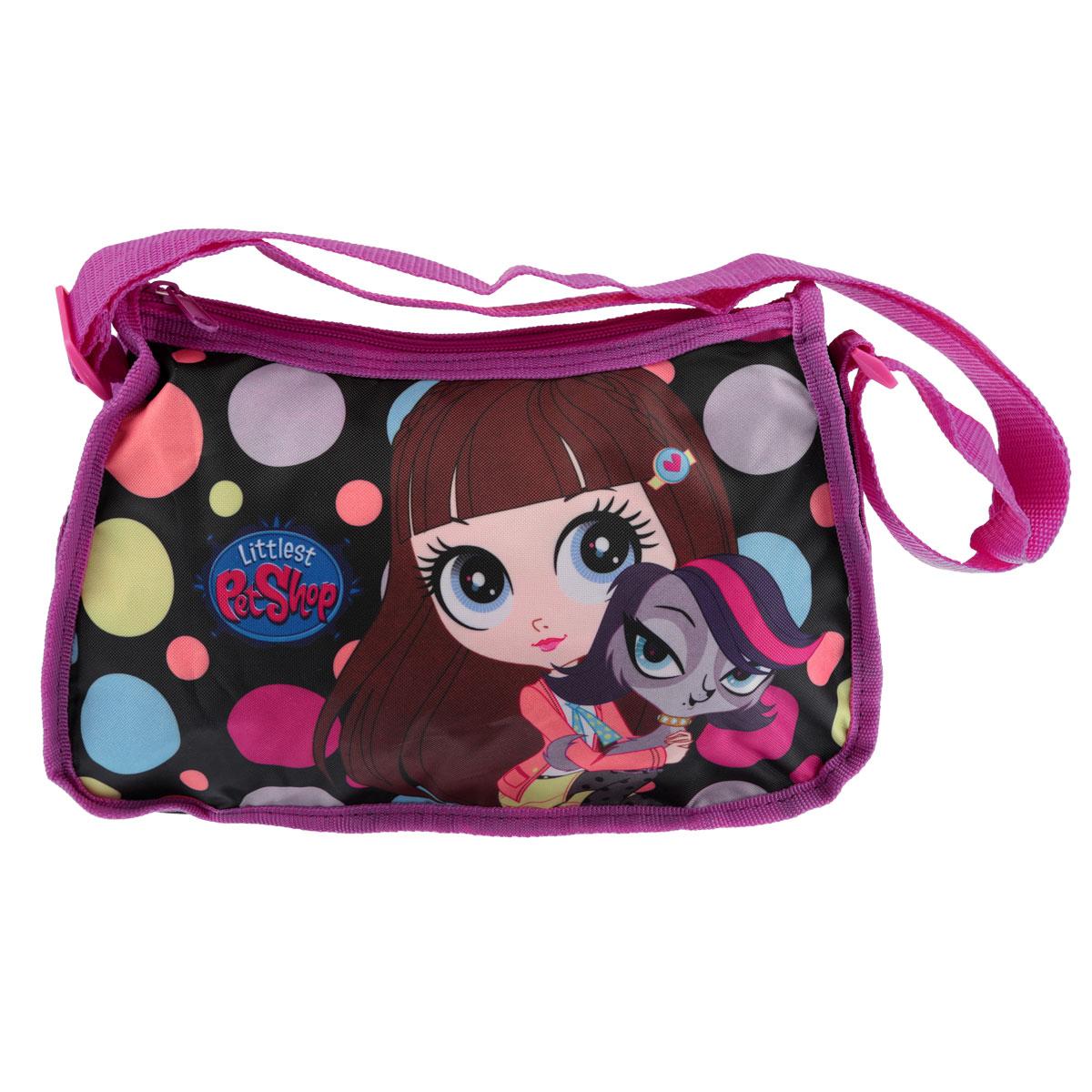 Сумочка детская Littlest Pet Shop, цвет: розовый, черный школьный ранец kinderline international littlest pet shop lpbb ut1 836