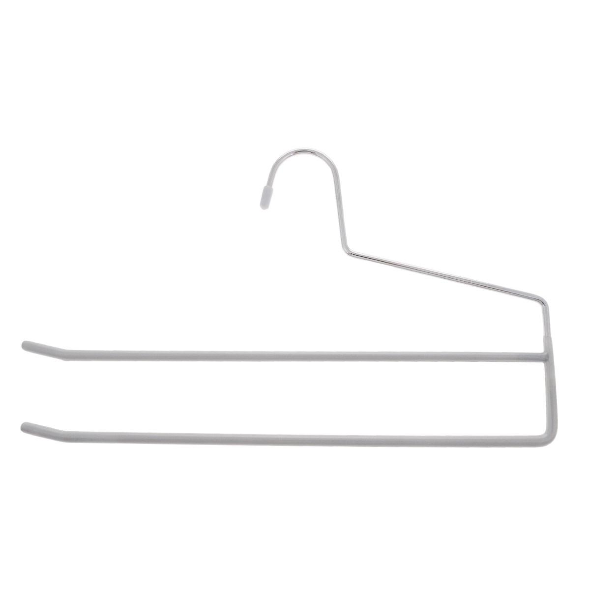 Вешалка для брюк Metaltex, цвет: серый, 2 уровня, длина 34,5 см55.21.06_серый_серыйВешалка для брюк Metaltex, выполненная из металла, представляет собой две перекладины, располагающиеся друг над другом. Каждая перекладина имеет противоскользящее полимерное покрытие.Такая вешалка прекрасно подойдет для подвешивания брюк.Вешалка - это незаменимая вещь для того, чтобы ваша одежда всегда оставалась в хорошем состоянии.