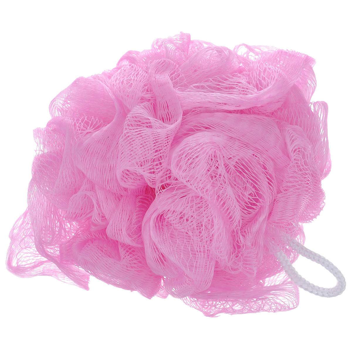 Мочалка из нейлона Home Queen, цвет: розовый. 5719957199 розовыйМочалка-бант Home Queen изготовлена из нейлона. Она мягко и бережно очищает и массирует кожу, улучшает циркуляцию крови и обмен веществ. Благодаря воздушной структуре, мочалка создает пышную пену даже при экономном использовании геля для душа. Подходит для всех типов кожи и не вызывает аллергии.