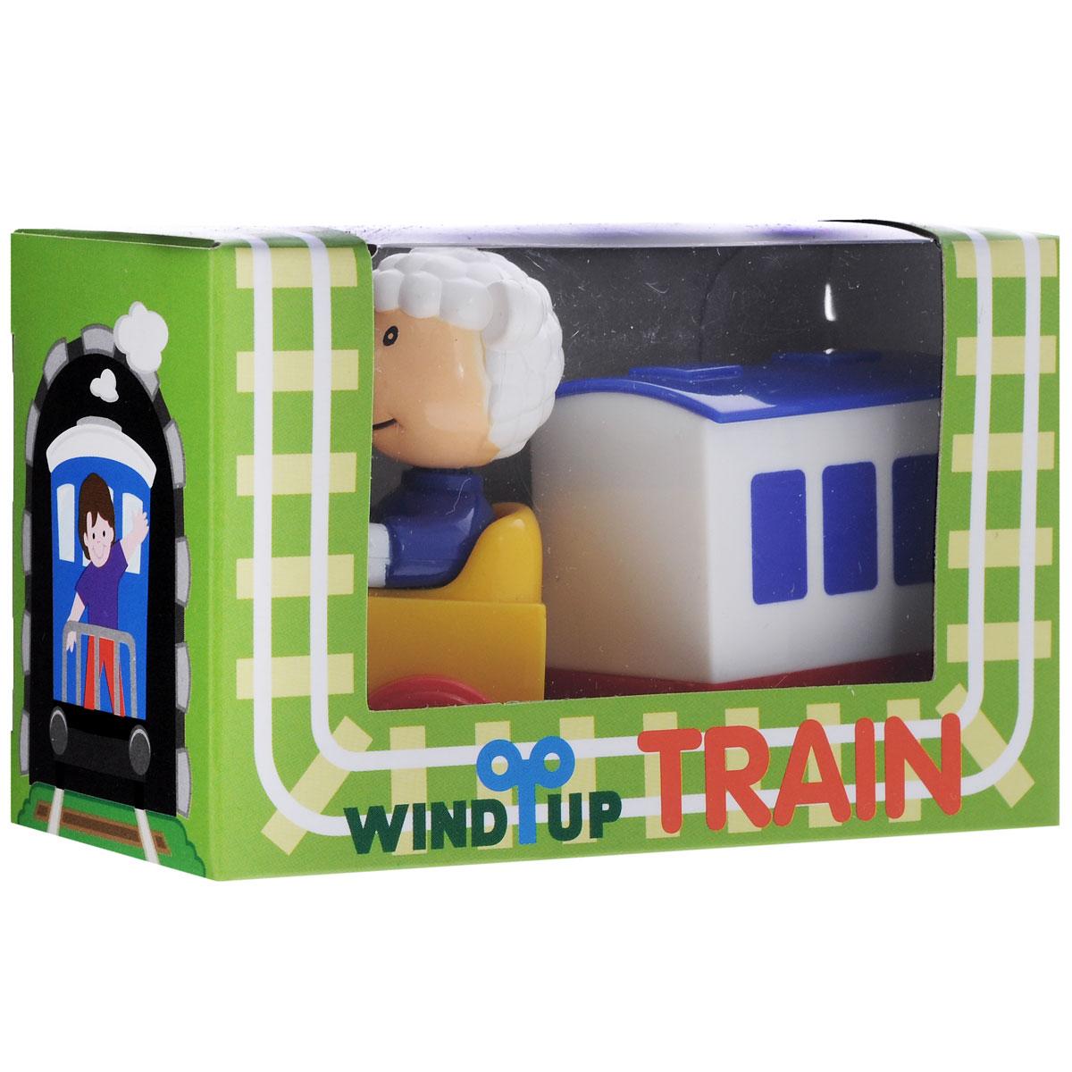 Заводная игрушка HansПаровозик с вагоном. Овечка машинки hti паровозик roadsterz синий с вагоном звуковыми и световыми эффектами