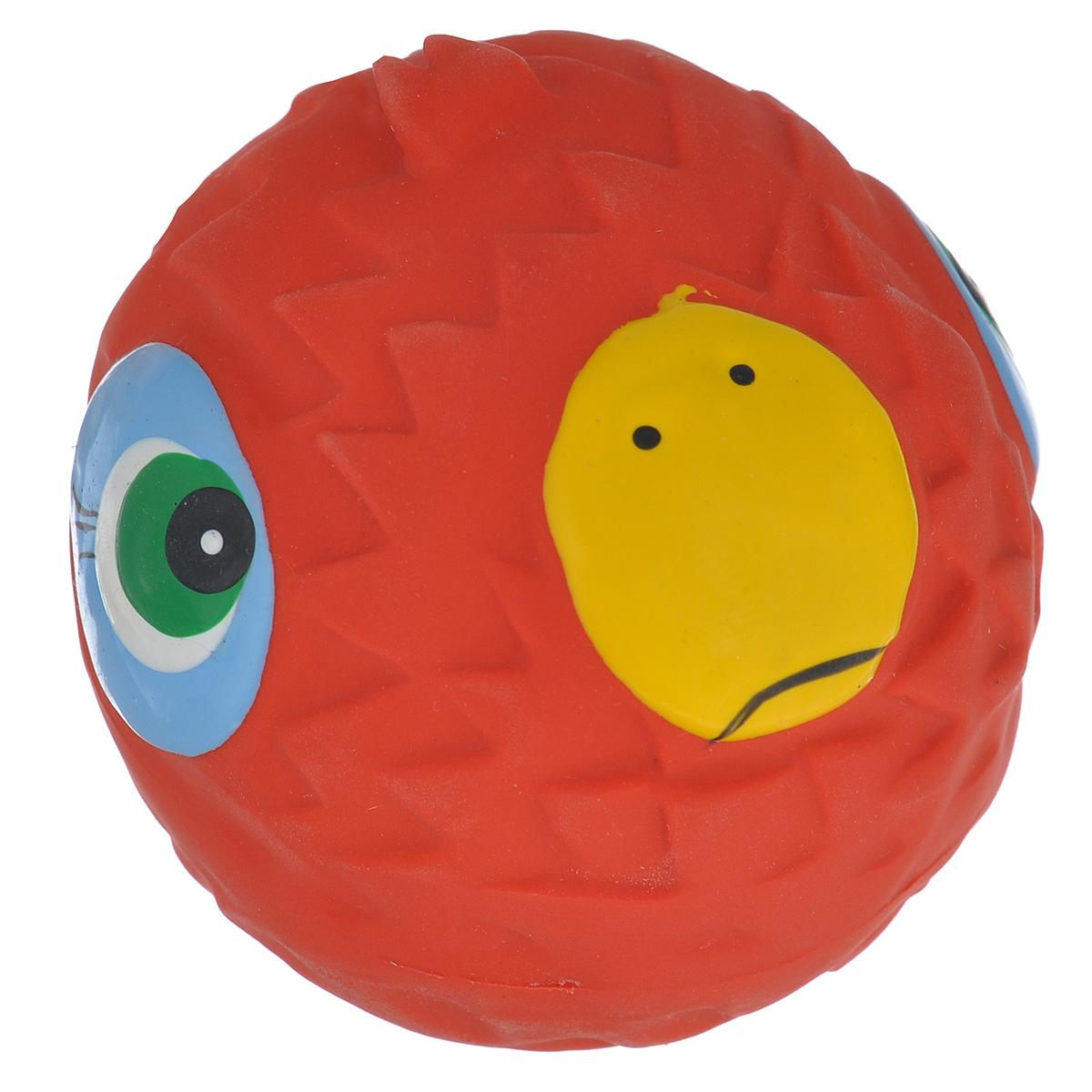 Игрушка для собак Beeztees Мяч с мордочкой, цвет: красный игрушка для собак beeztees i p t s рыбка цвет оранжевый