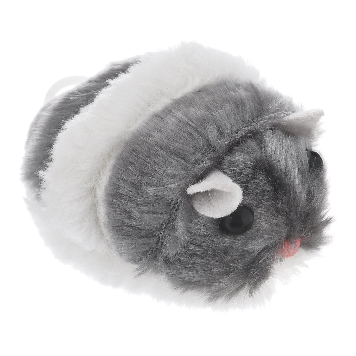 Игрушка для кошек Beeztees Хомячок вибрирующий, цвет: белый, серый16382/440370Игрушка для кошек I.P.T.S. Хомячок вибрирующий, изготовленная из пластика и текстиля, привлечет внимание вашей кошки. Изделие оснащено заводным механизмом. Игрушка не требует батареек, просто вытащите веревку механизма до упора и хомячок начнет двигаться. Такая игрушка не навредит здоровью вашего питомца и увлечет его на долгое время.