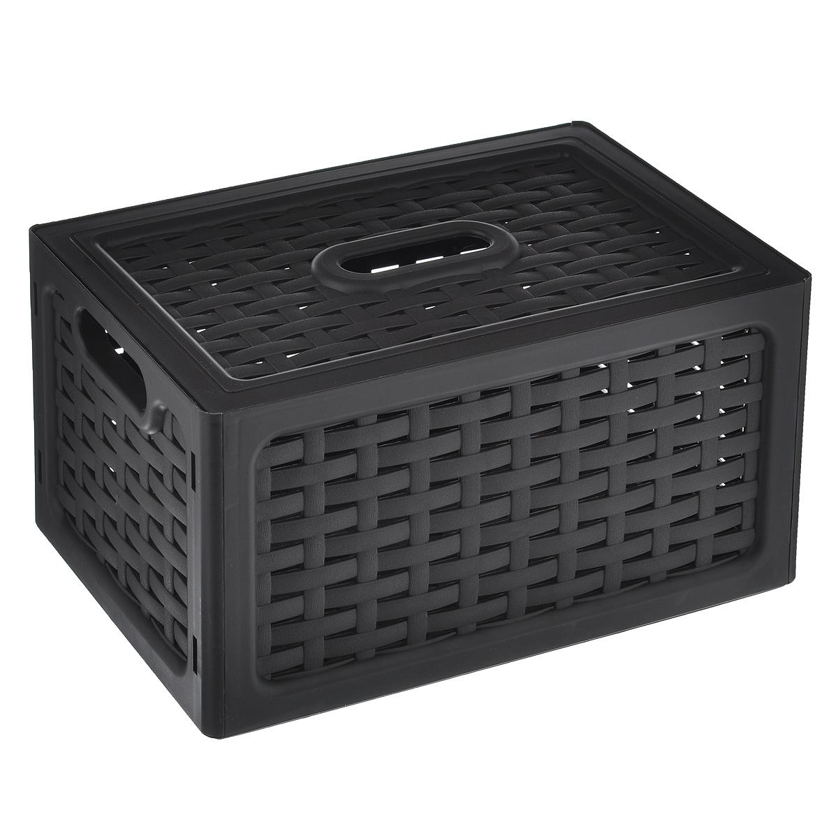 Ящик универсальный Idea Ротанг, с крышкой, цвет: темно-коричневый, 28 х 18,5 х 14,5 смМ 2372Универсальный ящик Idea Ротанг выполнен из пищевого пластика и предназначен для хранения различных предметов. Ящик оснащен удобной крышкой и двумя ручками. Элегантный выдержанный дизайн позволяет органично вписаться в ваш интерьер и стать его элементом.