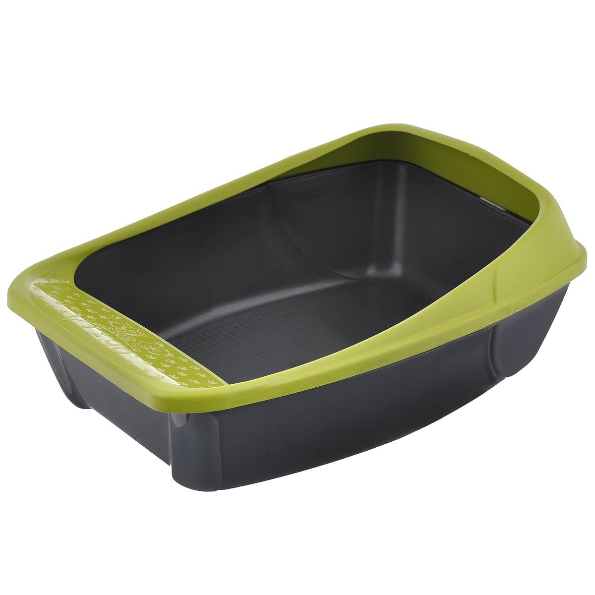Туалет для кошек MPS  Virgo , с бортом, цвет: салатовый, 52 см х 39 см х 20 см - Наполнители и туалетные принадлежности - Лотки и совки