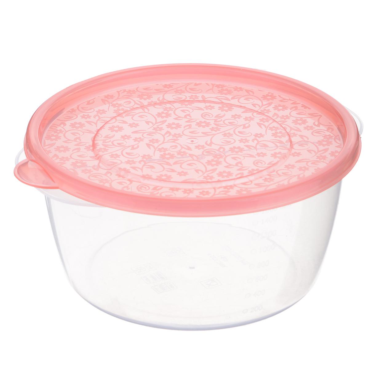 Контейнер Phibo Арт-Декор, цвет: коралловый, 1,75 лС11476Контейнер Phibo Арт-Декор изготовлен из высококачественного полипропилена и не содержит Бисфенол А. Крышка легко и плотно закрывается, украшена узором в виде цветков. Контейнер устойчив к воздействию масел и жиров, легко моется.Подходит для использования в микроволновых печах при температуре до +100°С, выдерживает хранение в морозильной камере при температуре -24°С, его можно мыть в посудомоечной машине при температуре до +95°С.