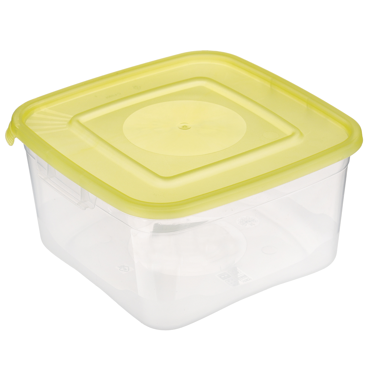 """Контейнер Полимербыт """"Каскад"""" квадратной формы, изготовленный из прочного пластика, предназначен специально для хранения пищевых продуктов. Крышка легко открывается и плотно закрывается.   Контейнер устойчив к воздействию масел и жиров, легко моется. Прозрачные стенки позволяют видеть содержимое. Контейнер имеет возможность хранения продуктов глубокой заморозки, обладает высокой прочностью.  Можно мыть в посудомоечной машине. Подходит для использования в микроволновых печах."""