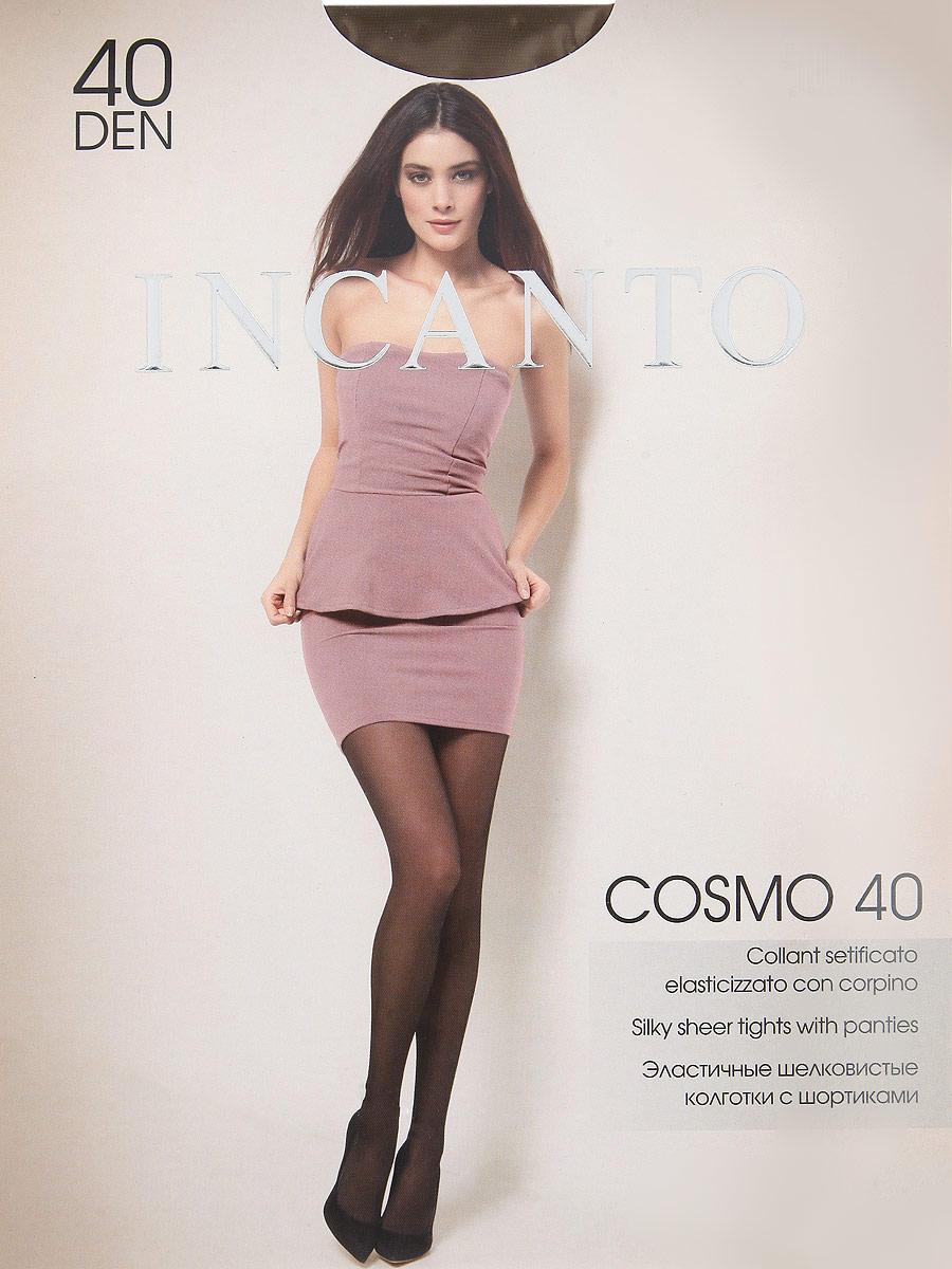 Колготки женские Incanto Cosmo 40, цвет: Daino (загар). Размер 3 (3-M)Cosmo 40Эластичные шелковистые колготки с шортиками, комфортным поясом и прозрачным укрепленным мыском.Плотность: 40 den.