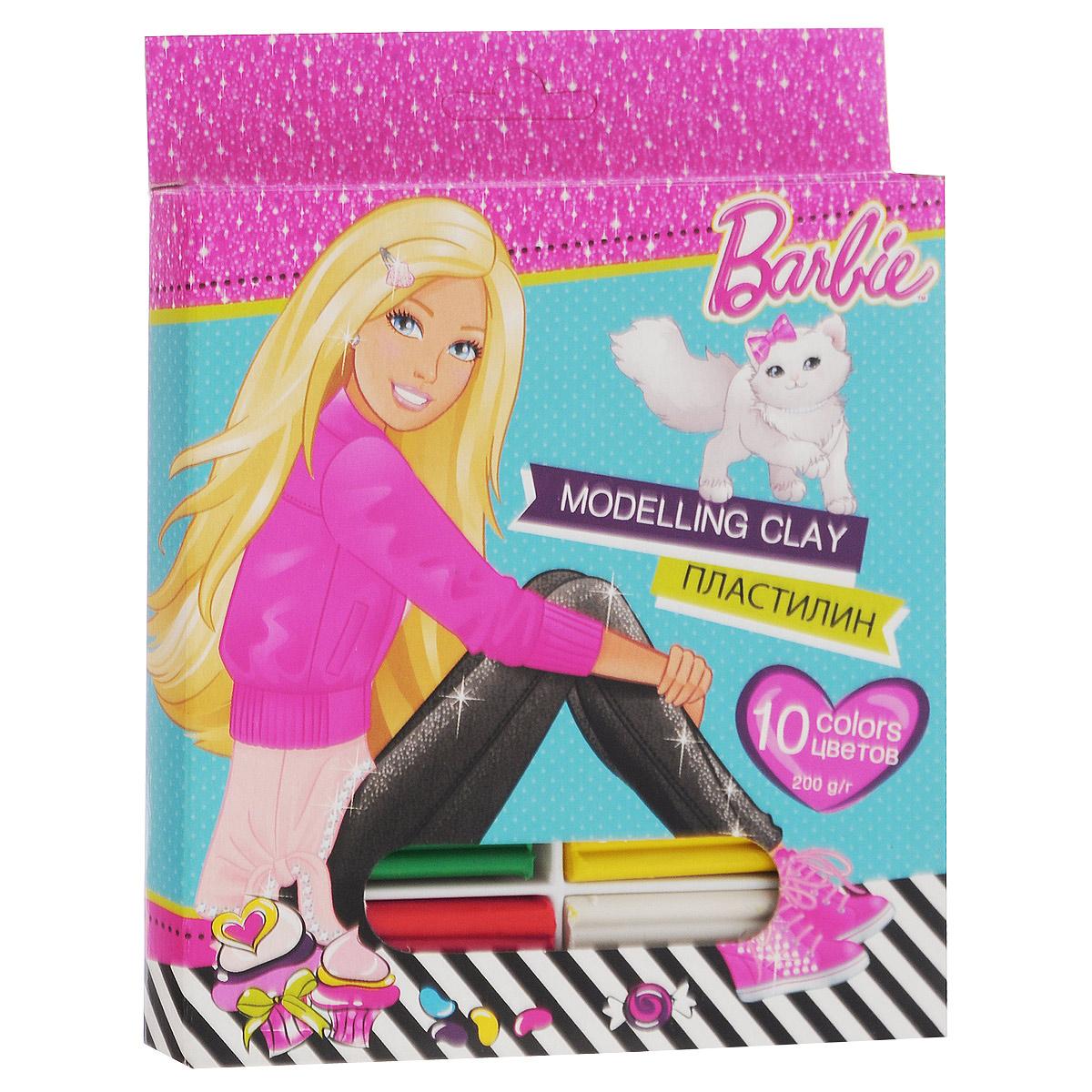 Пластилин Barbie, 10 цветовBRCB-US1-PSC-BOX10Пластилин Barbie - это отличная возможность познакомить ребенка с еще одним из видов изобразительного творчества, в котором создаются объемные образы и целые композиции.В набор входит пластилин 8 ярких цветов (белый, желтый, красный, оранжевый, коричневый, темно-зеленый, голубой, синий, светло-зеленый, черный). Цвета пластилина легко смешиваются между собой, и таким образом можно получить новые оттенки. Пластилин на растительной основе имеет яркие, красочные цвета и не липнет к рукам. Техника лепки богата и разнообразна, но при этом доступна даже маленьким детям. Занятие лепкой не только увлекательно, но и полезно для ребенка. Оно способствует развитию творческого и пространственного мышления, восприятия формы, фактуры, цвета и веса, развивает воображение и мелкую моторику.Вес бруска 20 грамм.
