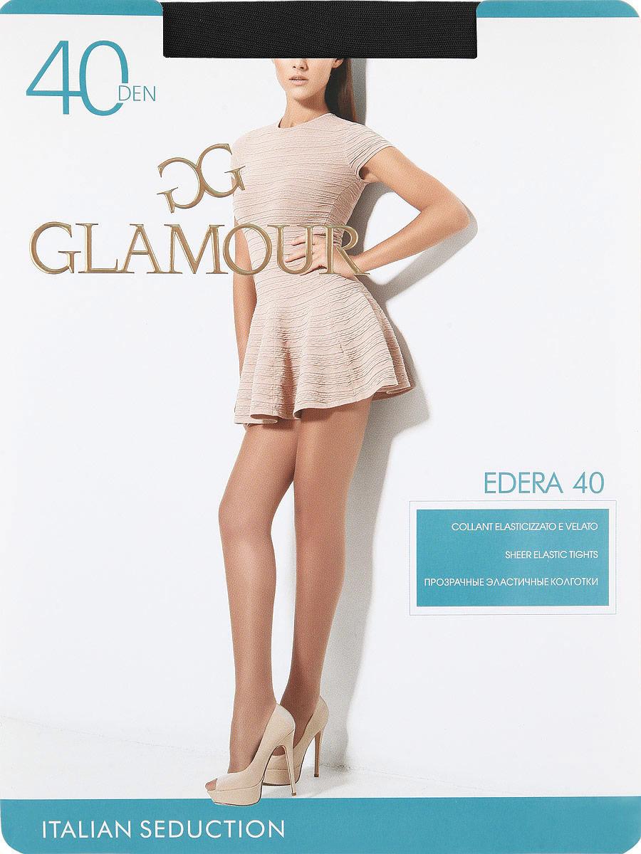 Колготки Glamour Edera 40, цвет: Nero (черный). Размер 3Edera 40Прозрачные эластичные колготки с шортиками, комфортным поясом и прозрачным укрепленным мыском.Плотность: 40 den.
