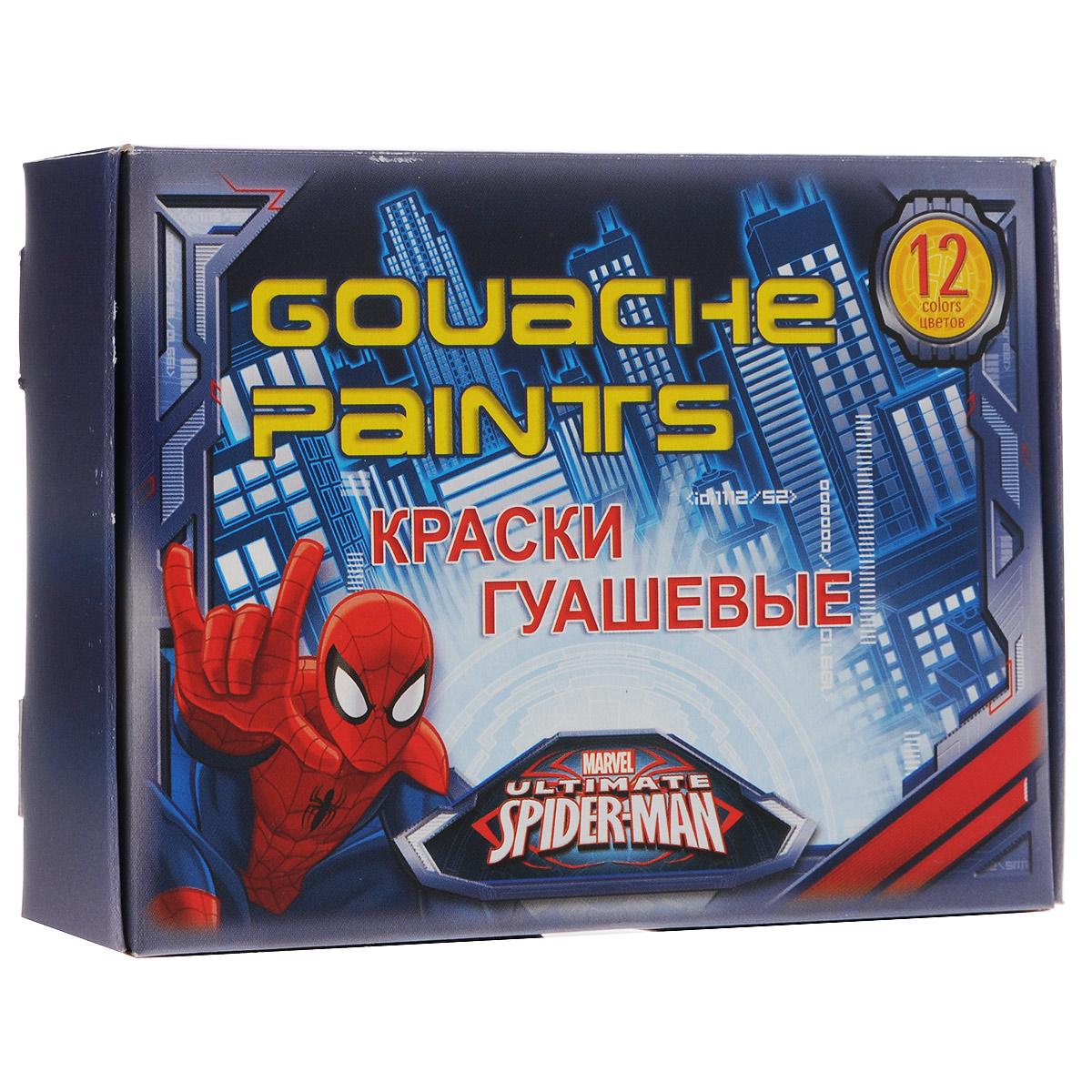 Краски гуашевые Spider-man Classic, 12 цветов lego classic конструктор дополнение к набору для творчества яркие цвета 10693