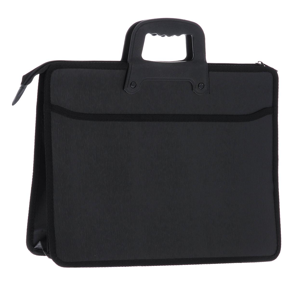 Папка-портфель на молнии Centrum, 2 отделения, с ручкой, цвет: черный велосипед specialized crave comp 29 2014