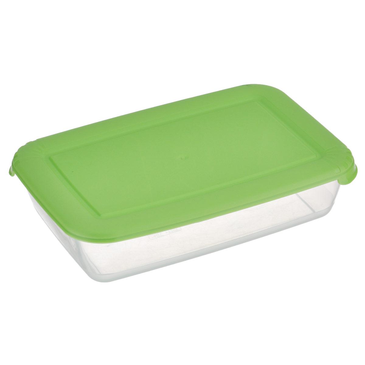 """Прямоугольный контейнер для СВЧ Полимербыт """"Лайт"""" изготовлен из высококачественного прочного пластика, устойчивого к высоким температурам (до +120°С). Цветная полупрозрачная крышка плотно закрывается, дольше сохраняя продукты свежими и вкусными. Контейнер идеально подходит для хранения пищи, его удобно брать с собой на работу, учебу, пикник или просто использовать для хранения пищи в холодильнике. Подходит для разогрева пищи в микроволновой печи и для заморозки в морозильной камере (при минимальной температуре -40°С). Можно мыть в посудомоечной машине."""