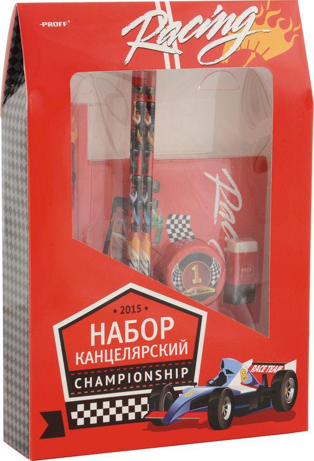 Набор 6 предметов (2 карандаша HB, ластик, точилка, линейка 15 см, блокнот) Proff. Racing в картонной коробке матрас аскона compact hit plus 90x190