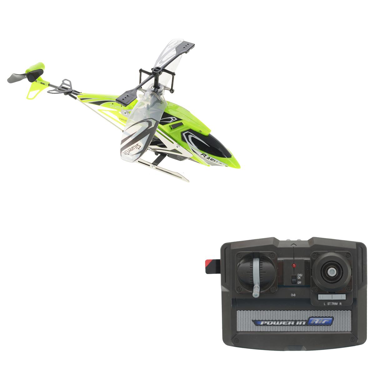 Silverlit Вертолет на радиоуправлении Штурмовик цвет зеленый самолеты и вертолеты silverlit вертолет 3 х канальный heli sniper 2 со стрелами зеленый