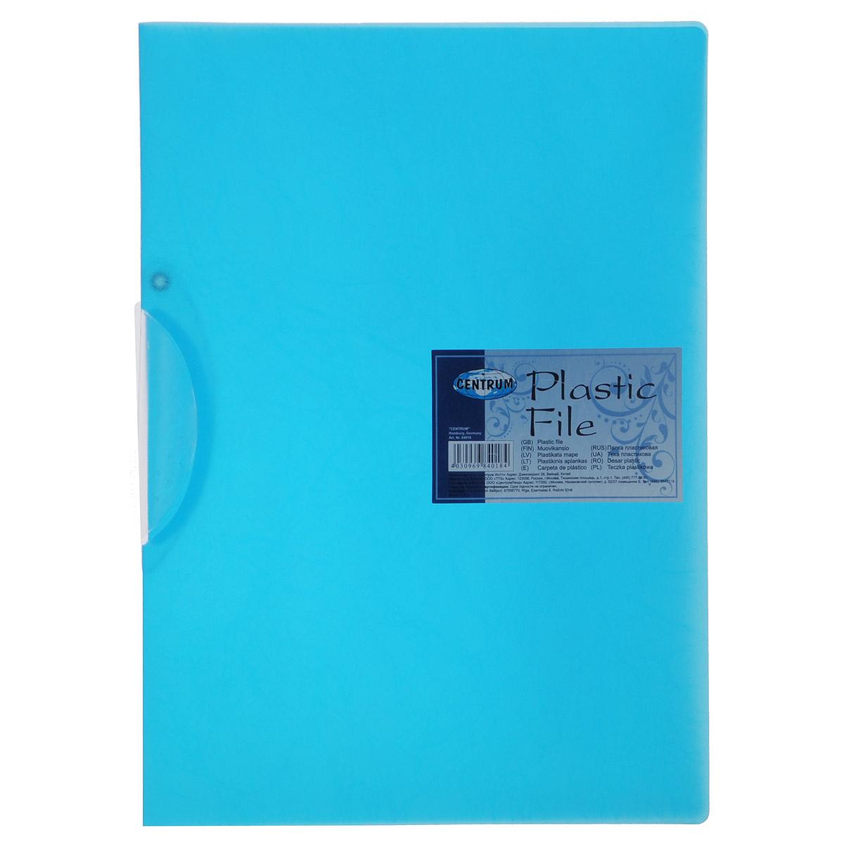 Папка с клипом Centrum, формат А4, цвет: синий84018Папка с клипом Centrum - это удобный и практичный офисный инструмент, предназначенный для хранения и транспортировки неперфорированных рабочих бумаг и документов формата А4.Она изготовлена из прочного пластика и оснащена боковым поворотным клипом, позволяющим фиксировать неперфорированные листы.Папка - это незаменимый атрибут для студента, школьника, офисного работника. Такая папка практична в использовании и надежно сохранит ваши документы и сбережет их от повреждений, пыли и влаги.