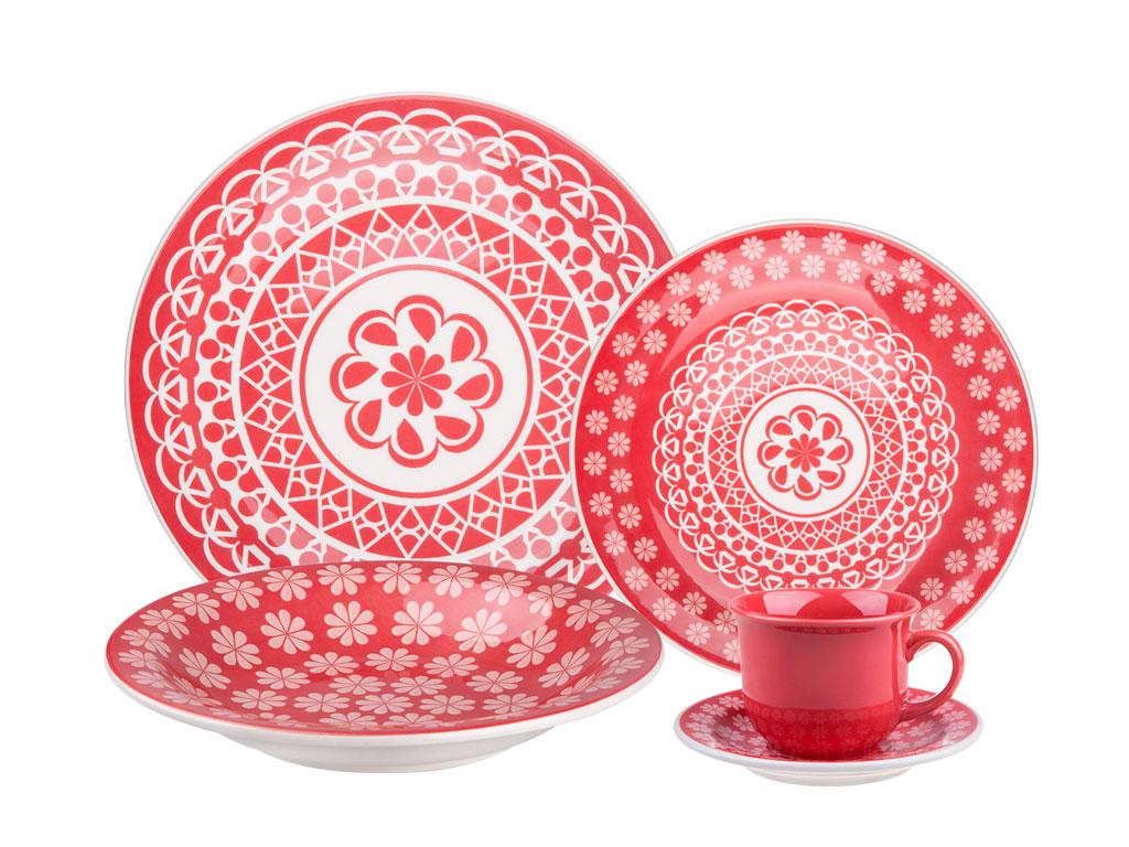 Набор столовый РЕНДА 20 пр. в деревянной коробке6404RENDA-5Набор столовой, посуды Ренда состоит из 20 предметов. Посуда выполнена извысококачественной керамики и декорирована ярким принтом.Состав набора:тарелка обеденная 26 см. - 4шт.,тарелка суповая 22 см.-4 шт.,тарелка десертная 19 см. - 4шт.,блюдце и чашка 200 мл. по 4 шт.Подходит для использования в СВЧ печи и посудомоечной машине. Не использовать наоткрытом огне.