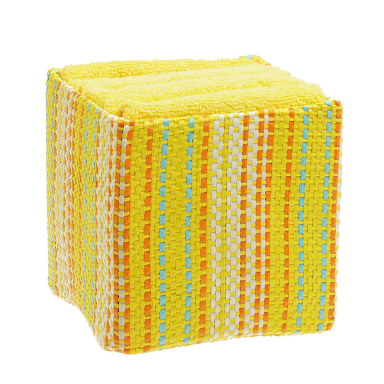 Набор полотенец из 100% хб 30х30 см 6 пр. в корзине ПОЛОСКИ miolla набор полотенец в корзине горох