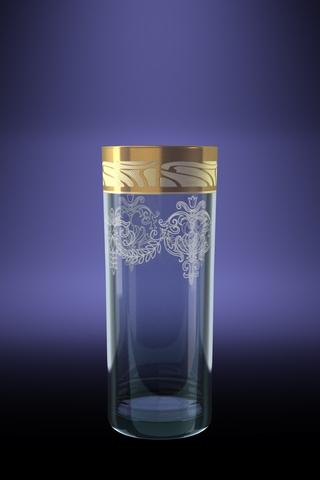 Набор 6 стаканов ГЕО для сока с рисунком Мускат 350 млGE05-806Набор 6 стаканов ГЕО для сока с рисунком Мускат 350 мл стекло